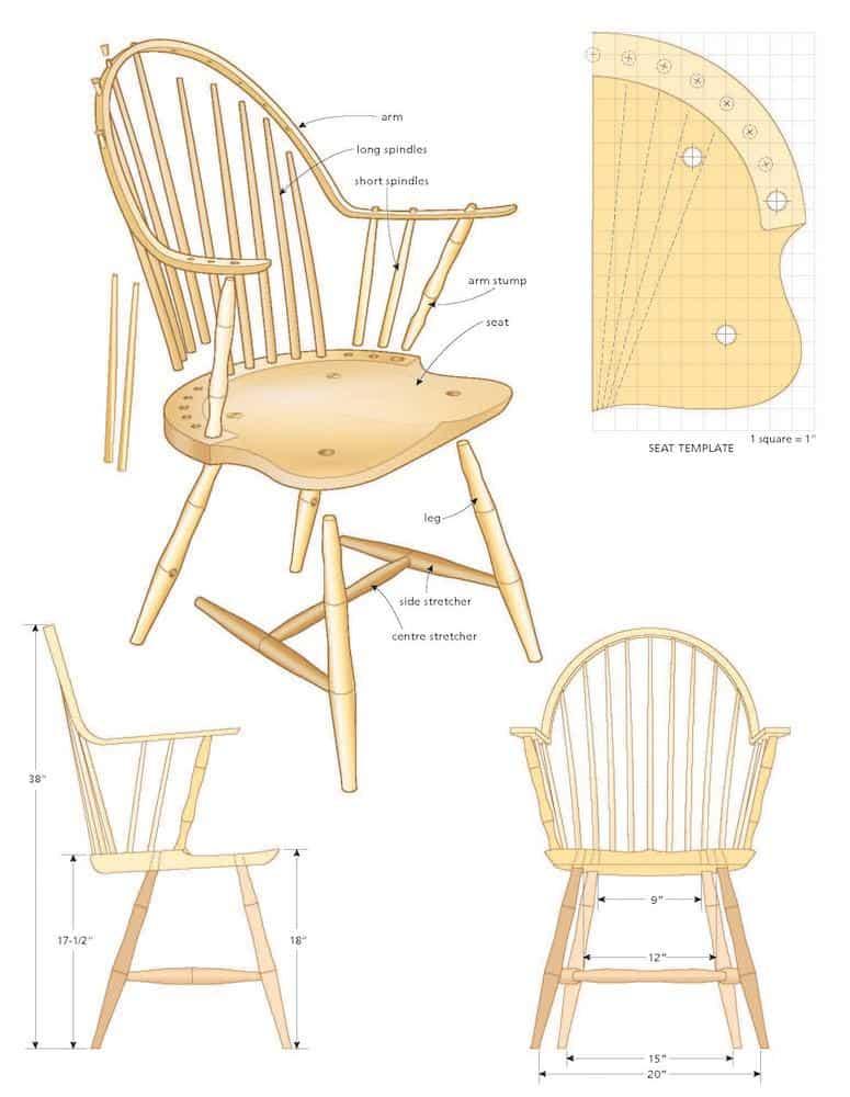 Windsor arm chair illio