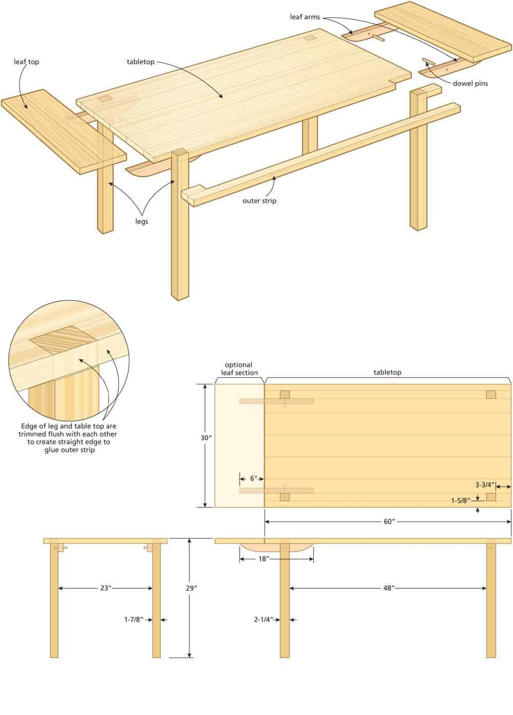 Kitchen table illo