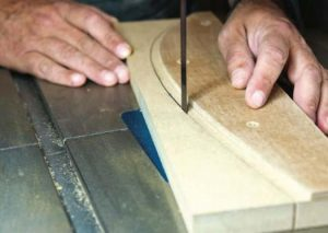 bandsaw to the line