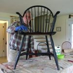 tung oil applied to chair
