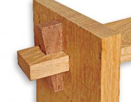 wedged mortise and tenon