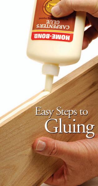 easy steps to gluing
