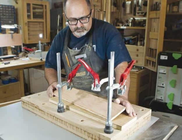 Veneer Press Table