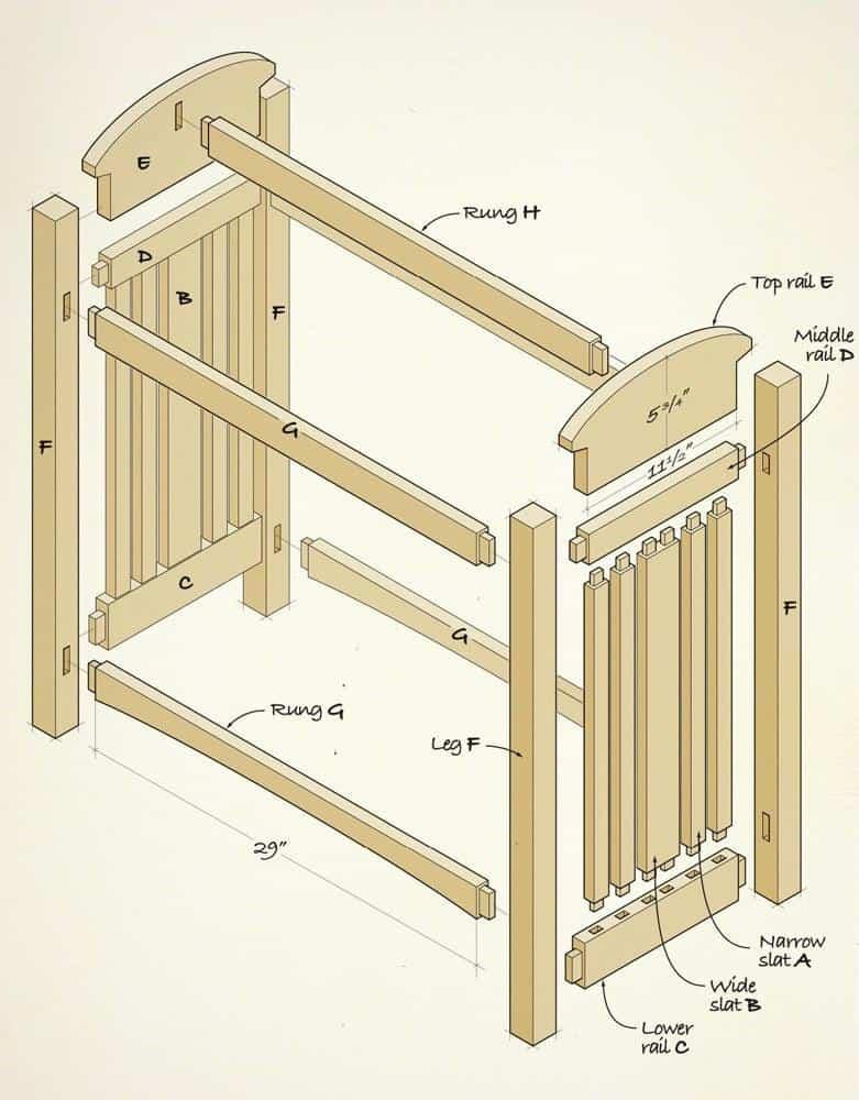quilt rack illustration