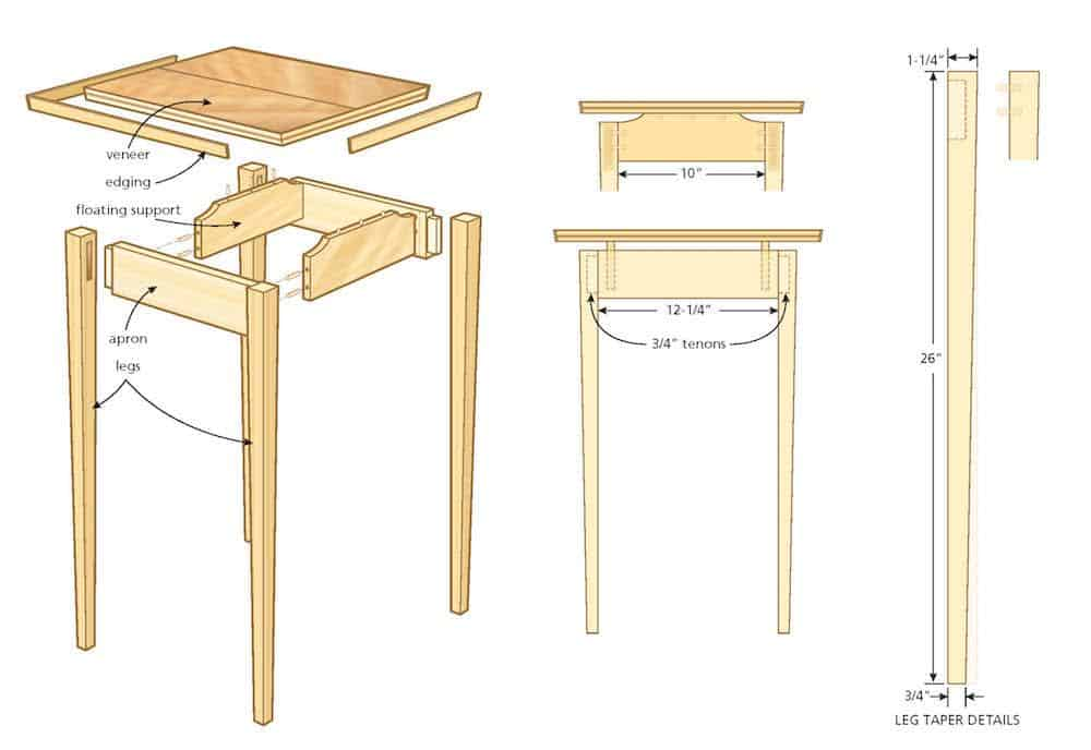 side table diagram