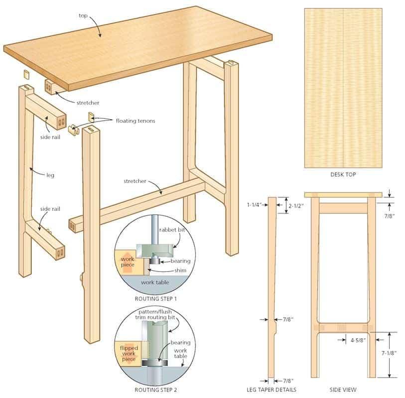 writing desk illustration