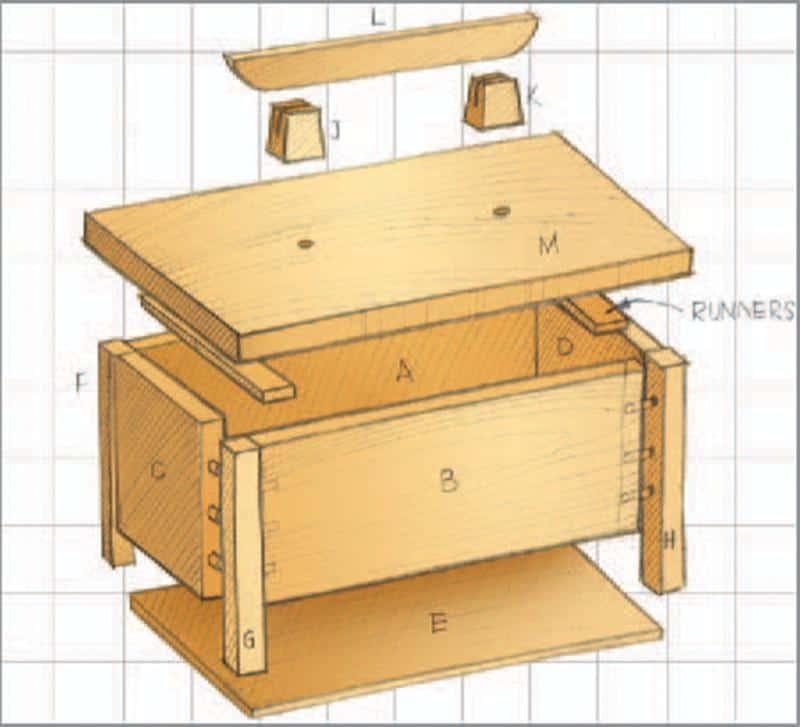 Bed side box Illustration 3