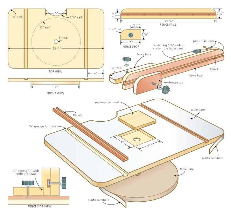 drill press table illustration