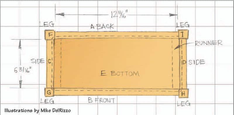 Bed side box Illustration 1