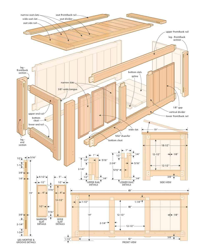 sapele deck box illustration