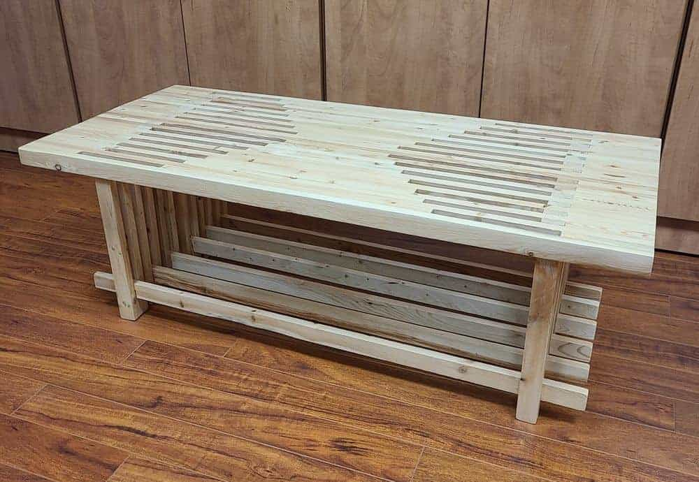 picket sign coffee table