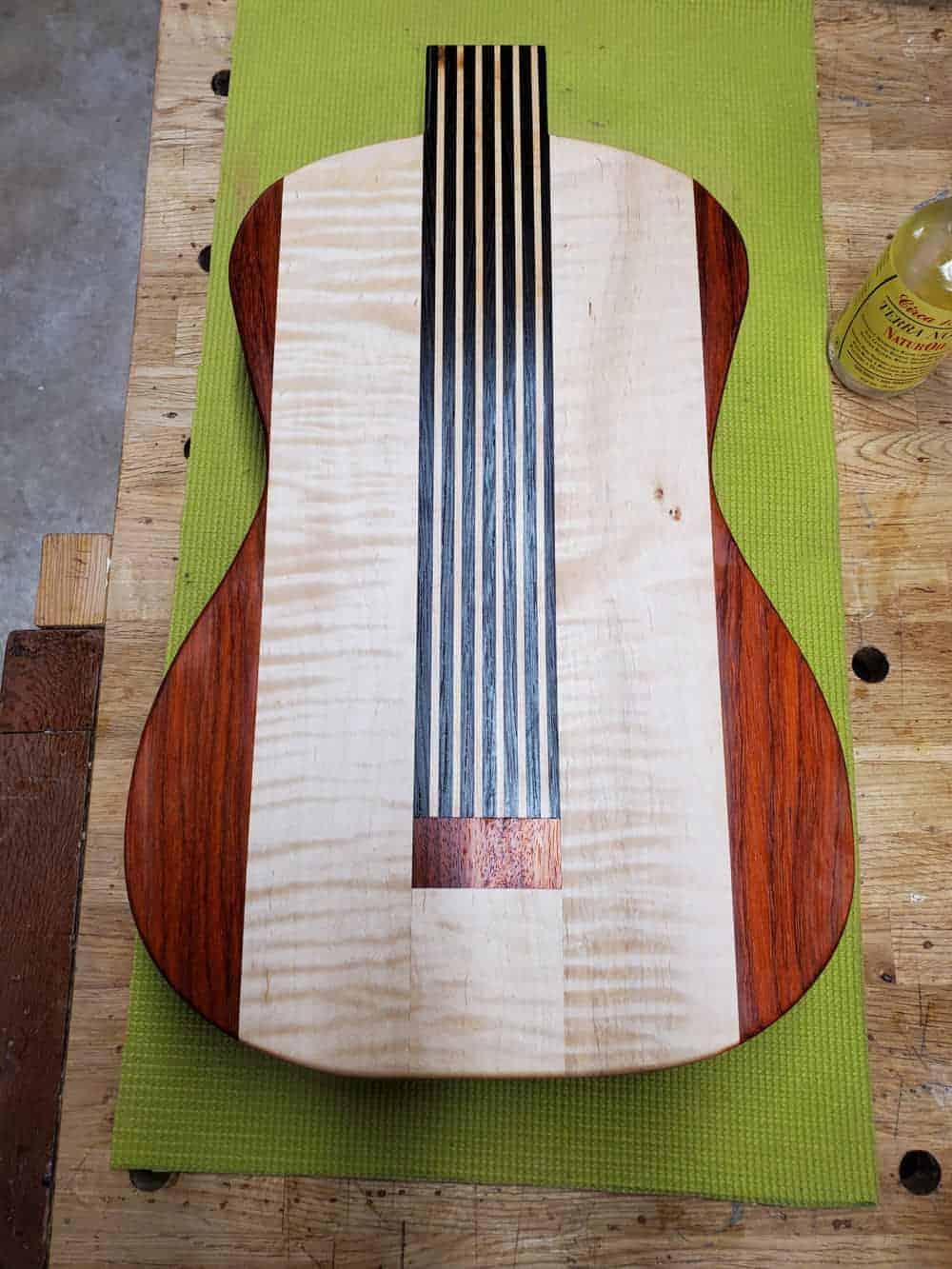 Guitar charcuterie board