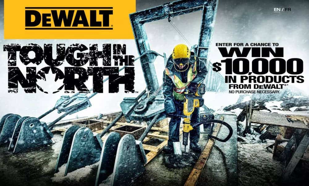 Enter for a chance to win $10,000 from DEWALT