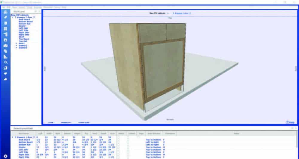 Sketchup 3D screen