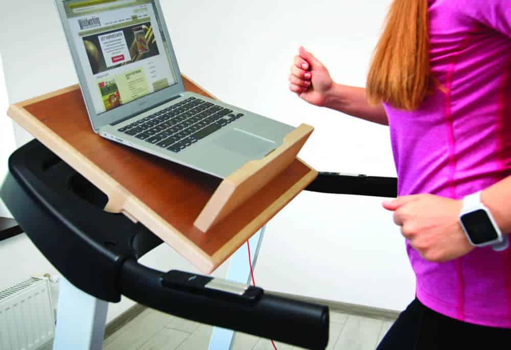 treadmill laptop support